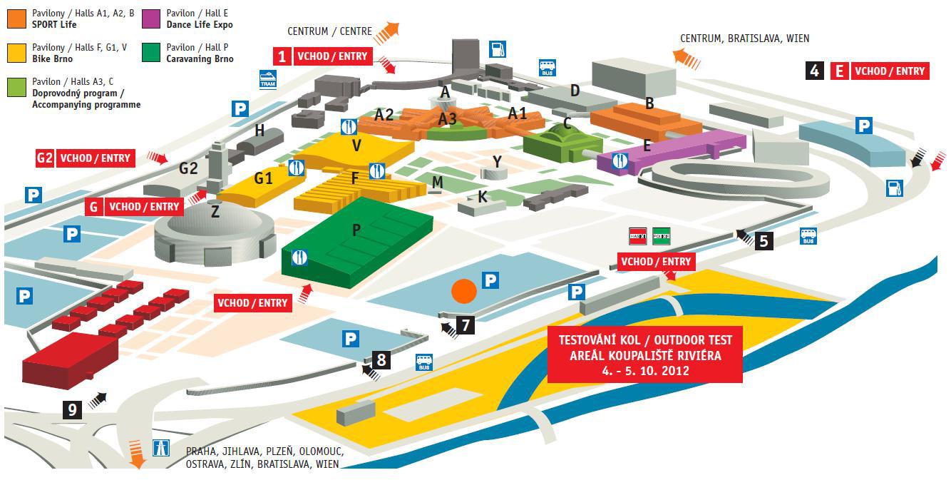 Plánek Minicampu - Caravaning Brno 2012