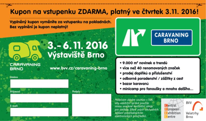Caravaning Brno 2016_pozvánka na čtvrtek